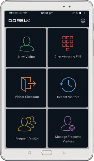 Visitor registration app